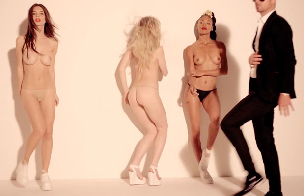robin thicke naked girl video